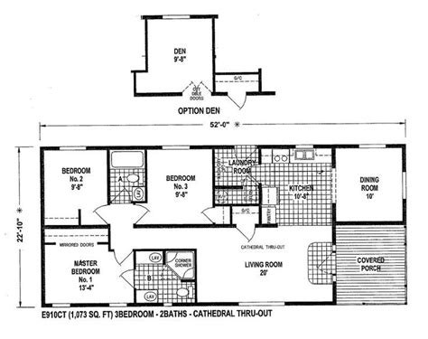 small double wide mobile home floor plans mobile home blueprints 3 bedrooms single wide 71 e910ct