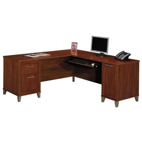 bush furniture somerset  shape wood home office desk