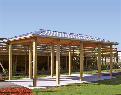 Pole Barn Price Wood Single Roof Summerset Rectangle Pavilions