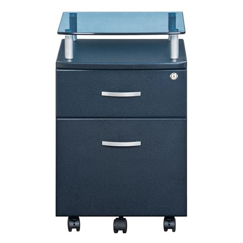 Non Hanging File Cabinet by Techni Mobili Rolling File Cabinet With Glass Top Color