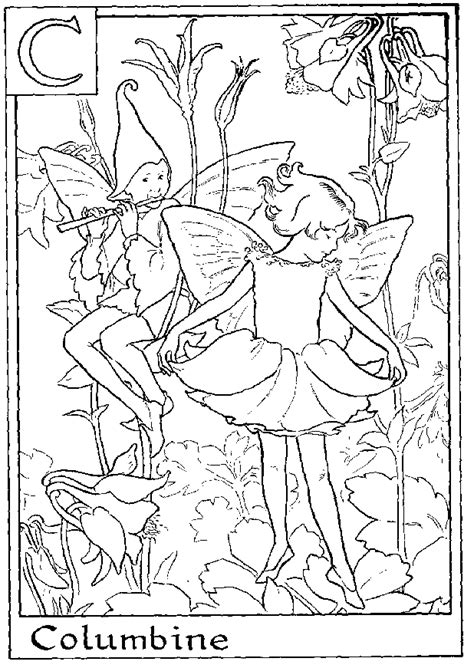 fairies in bloom a flower coloring book books 1000 images about elfje alfabet kleurplaat on