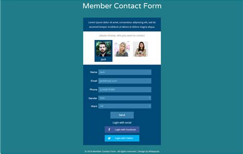 html5 contact form template 90 best free html5 form templates 2018