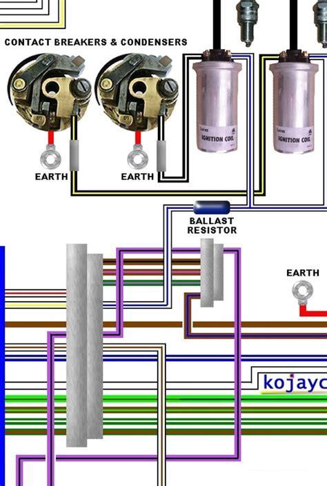 norton commando mk2 interpol a3 laminated colour wiring