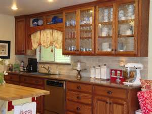 Decorative Glass Kitchen Cabinets Wooden Glass Kitchen Cabinets Idea 4 Decor Ideas