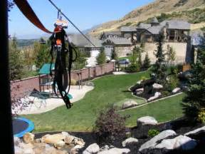 backyard ziplines utah landscaping company chris landscaping