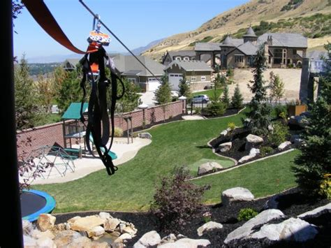 zip lines for backyard utah landscaping company chris jensen landscaping