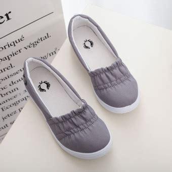 Sepatu Santai Kanvas jual sepatu kanvas wanita warna putih sol lunak bertali