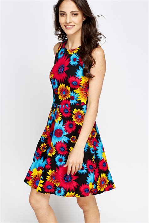 colorful dresses colourful sleeveless floral dress just 163 5