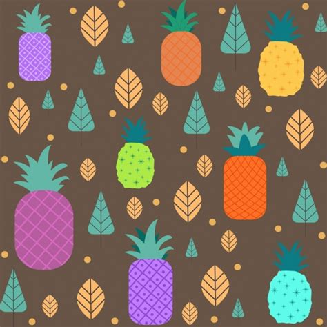 hawaiian pattern cdr pineapple free vector download 122 free vector for