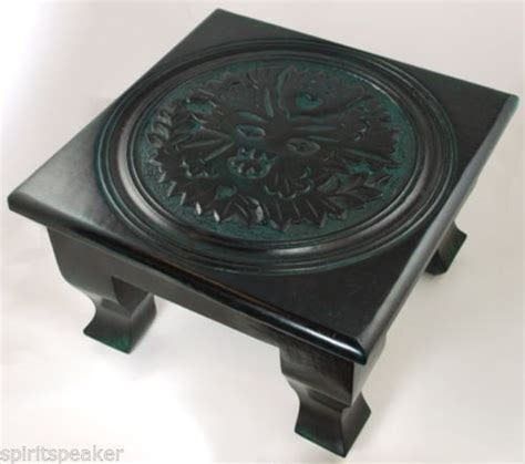 Wiccan Altar Table by Greenman Altar Table Green Altar Table Wiccan God