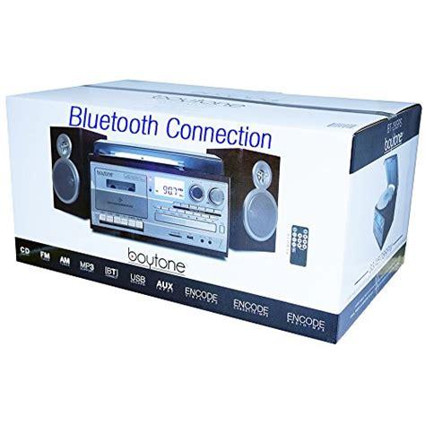 cassette cd radio player boytone bt 28sps bluetooth classic style record player