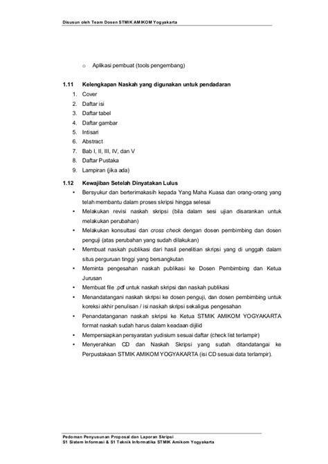 format revisi skripsi pedoman penyusunan penulisan proposal penelitian dan skripsi