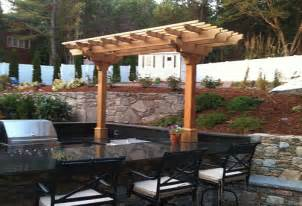 Pergola Kitchen Outdoor by Outdoor Kitchen Pergola By Trellis Structures