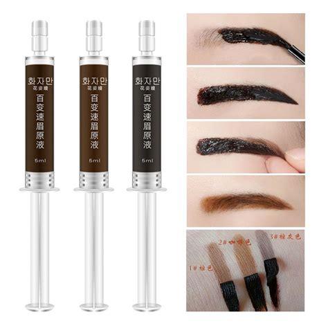 henna eyebrow tattoo kit branded make up eye brows gel lasting brown