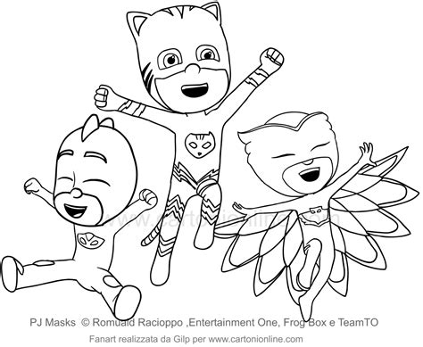 Bedroom Colora Photo Pig Mask Coloring Page Images Pj Mask Da Colorare
