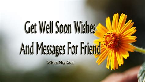 Get Well Soon Messages For Friend   Inspiring & Funny