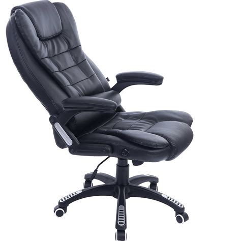executive black leather reclining office computer