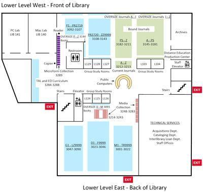 library floor maps library biola university