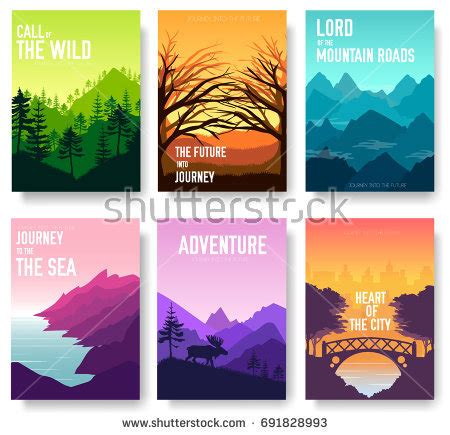 cover design nature kids playground field brochure cards set stock vector