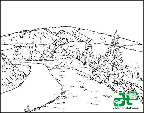 wallpaper alam hitam putih top gambar mewarnai pemandangan alam images for pinterest