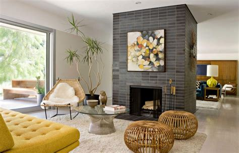 living room design with fireplace indoor fireplace designs combine with cozy living room design with yellow sofa and