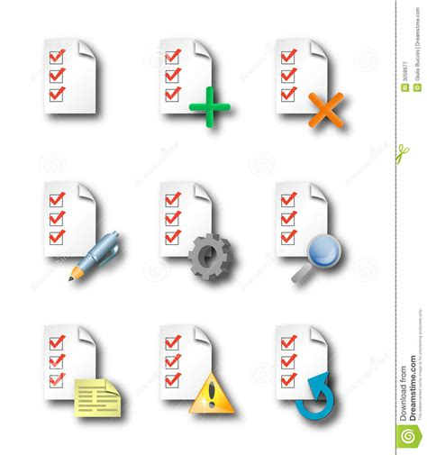 List Of With No Background Check Check List Icons Royalty Free Stock Photography Image 3058977