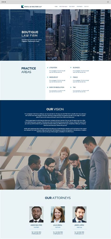 website templates for law firms boutique law firm website template wix website templates