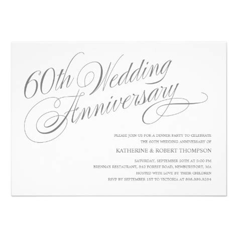 60th wedding anniversary card templates free 60th wedding anniversary invitation templates