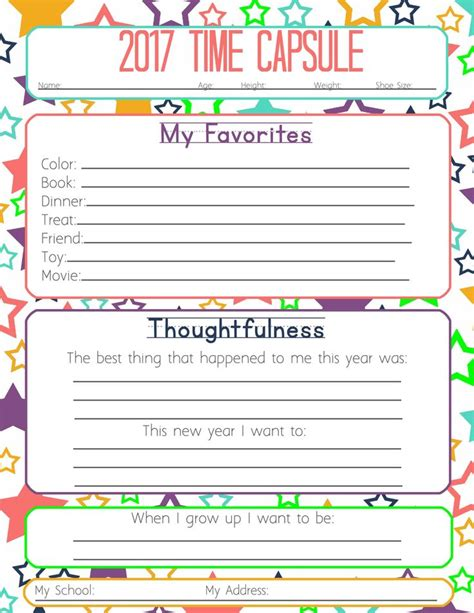new year activities in school new years resolution time capsule worksheets and