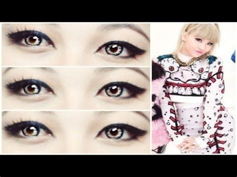 tutorial eyeliner cl 2ne1 cl quot gotta be you quot 2ne1 makeup tutorial youtube kpop