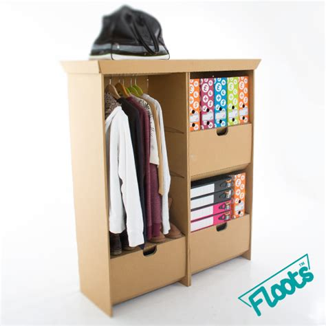 Desk Wardrobe Units by Wardrobe Drawer Unit Combo Pack Brown Cardboard