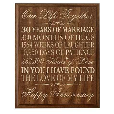 30th anniversary gift ideas parents 30 year