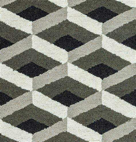 geometric pattern grey rug country geometric 3d pattern wool area rug in grey black