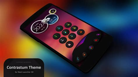 next launcher themes apk next launcher theme contrastum v2 5 apk free apk installer for android