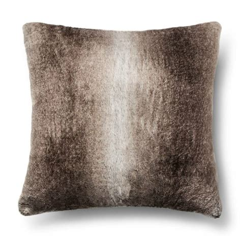 Pillows To Go With Brown by Faux Fur Pillow Brown Fieldcrest 490601605573 Ebay
