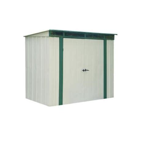 How To Put A Shed Together by Arrow Eurolite Lean 6 Ft X 4 Ft Steel Storage Shed