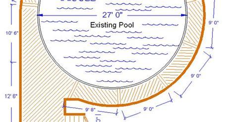 Outdoor Pool Designs Pool Deck Ideas Ft Round Pool Deck Plan Deck Plans