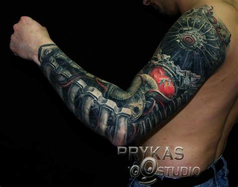 men full sleeve cover up with brilliant biomechanical