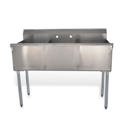48 3 compartment sink 48 quot three compartment commercial sink elite restaurant