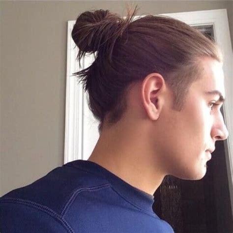 half shaved bun guy hair 50 handsome man bun hairstyles men hairstyles world