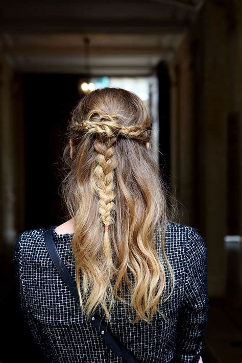 half up half down daily hairstyles hairstyles for everyday half updo braid hair pretty designs