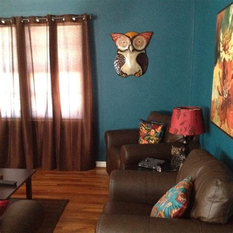 Owl Decor For Living Room by Bright Teal Living Room With Pier 1 Wise Owl Wall Decor I