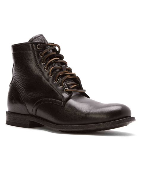 frye mens sneakers frye s lace up boots in brown for black lyst