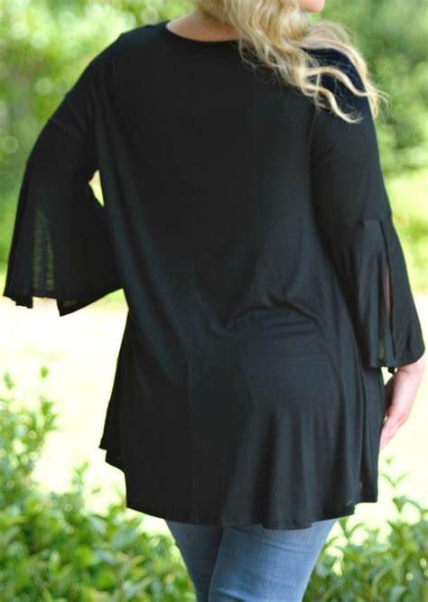 Blouse Fs05 Jfashion plus size solid criss cross slit v neck blouse fairyseason