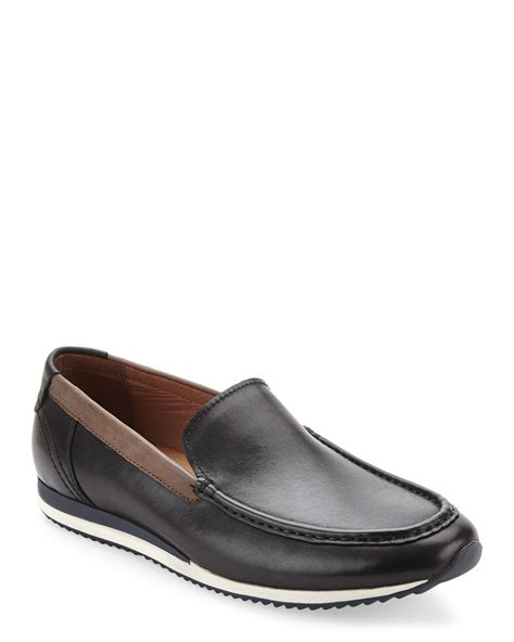 bacco bucci loafers bacco bucci dual monk loafer in black for lyst