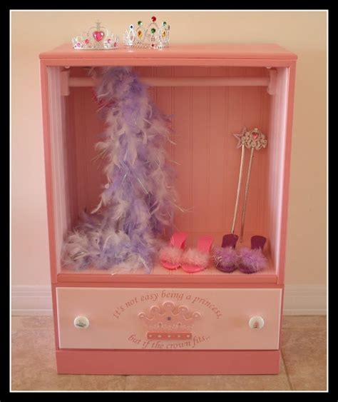 girls dress up armoire dress up storage made from an old dresser i got old dresser and i m making this too