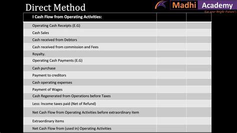 cash flow statement format tamil accounts cash flow statement tamil youtube