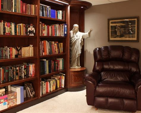 custom bookcase  statue niches south chicagoland