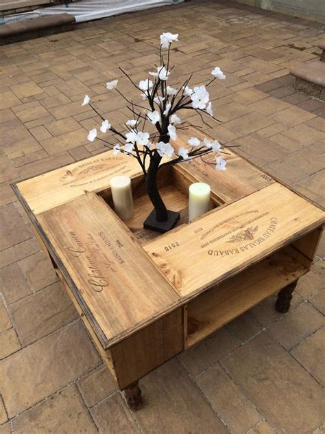 Wine Box Coffee Table Repurposed Wine Box Coffee Table Coffee Wine And Tables