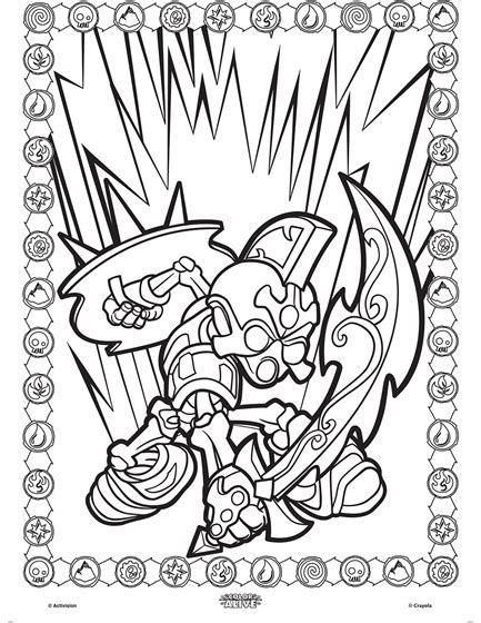 Color Alive Skylanders Chop Chop Coloring Page Crayola Com Crayola Color Alive Coloring Pages